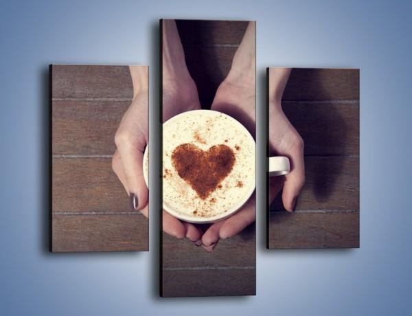 Obraz na płótnie – Kawa z ciepłym dotykiem – trzyczęściowy JN548W3