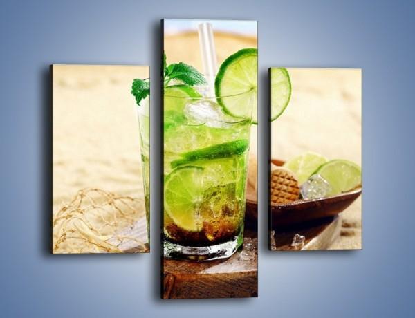 Obraz na płótnie – Leniwy drink na plaży – trzyczęściowy JN551W3