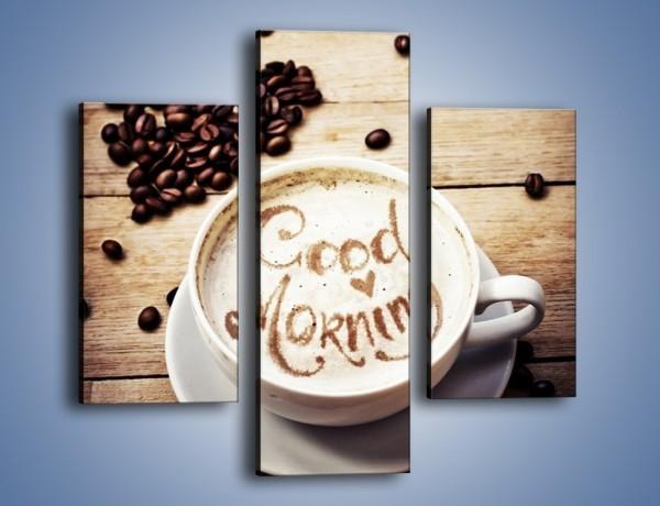 Obraz na płótnie – Poranek koniecznie z kawą – trzyczęściowy JN553W3