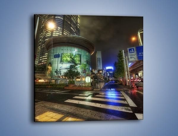 Obraz na płótnie – Spokojne Tokyo nocą – jednoczęściowy kwadratowy AM056