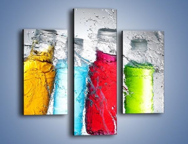 Obraz na płótnie – Alkohol zatopiony w wodzie – trzyczęściowy JN584W3