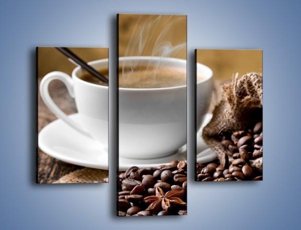 Obraz na płótnie – Filiżanka kawy z małą łyżeczką – trzyczęściowy JN598W3