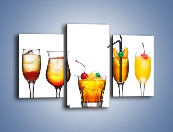 Obraz na płótnie – Drinki o kolorze wschodzącego słońca – trzyczęściowy JN599W3