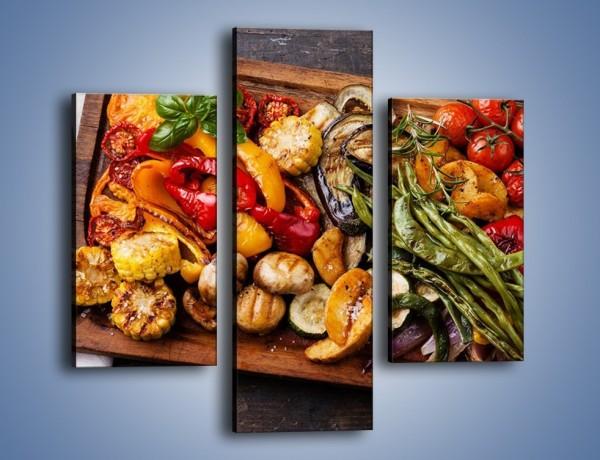 Obraz na płótnie – Taca z grilowanymi warzywami – trzyczęściowy JN600W3