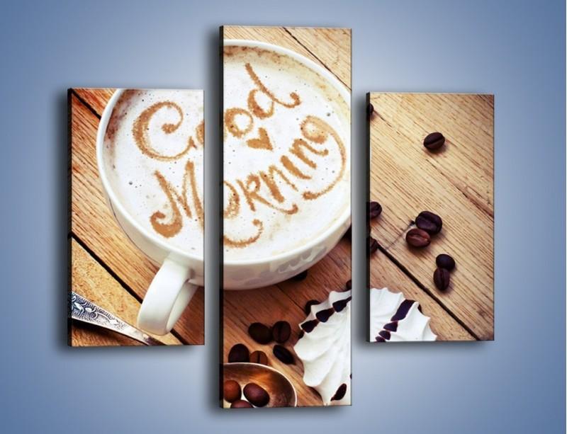 Obraz na płótnie – Kawa z bezą – trzyczęściowy JN605W3