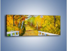 Obraz na płótnie – Alejką w słoneczna jesień – jednoczęściowy panoramiczny GR540