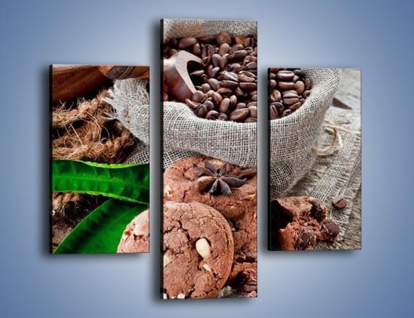Obraz na płótnie – Ciasteczka idealne do kawy – trzyczęściowy JN614W3