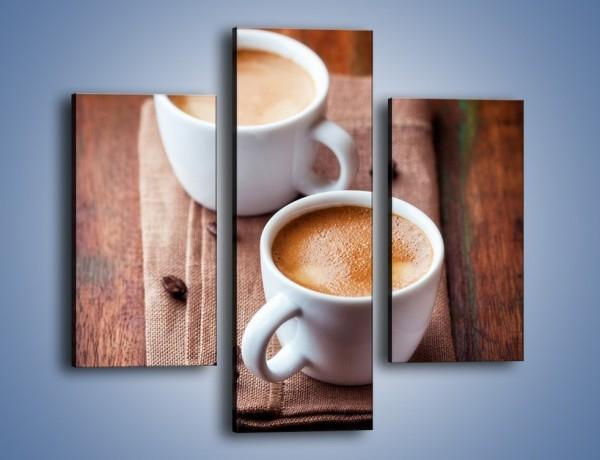 Obraz na płótnie – Kawa nie tylko we dwoje – trzyczęściowy JN618W3