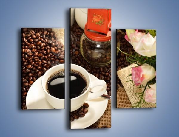 Obraz na płótnie – Kawa na przyjęciu – trzyczęściowy JN624W3