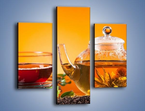 Obraz na płótnie – Dzbanuszek świeżej herbaty – trzyczęściowy JN626W3