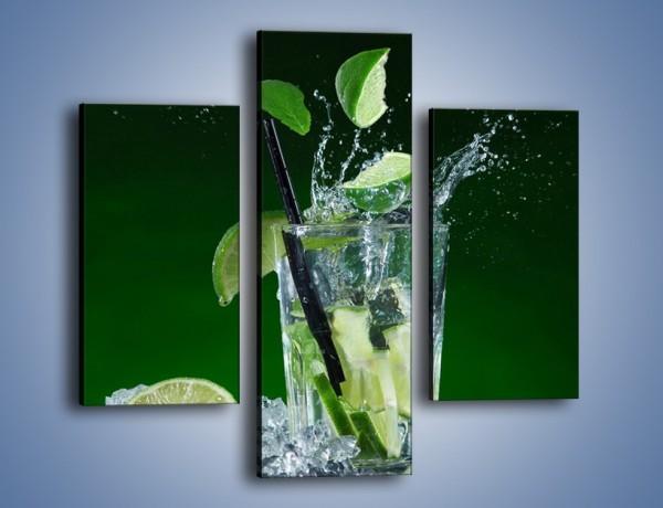 Obraz na płótnie – Limonka z lodem dla orzeźwienia – trzyczęściowy JN630W3