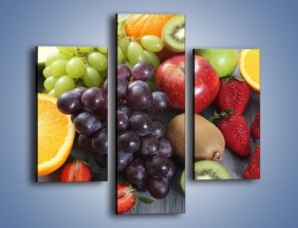 Obraz na płótnie – Idealna pora na owoce – trzyczęściowy JN631W3