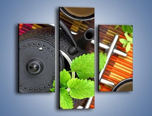 Obraz na płótnie – Dzbanek pełny herbacianych tajemnic – trzyczęściowy JN632W3