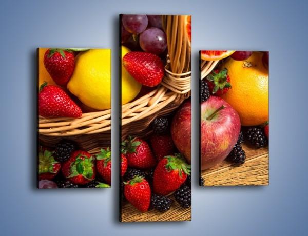 Obraz na płótnie – Kosz zatopiony w owocach – trzyczęściowy JN635W3