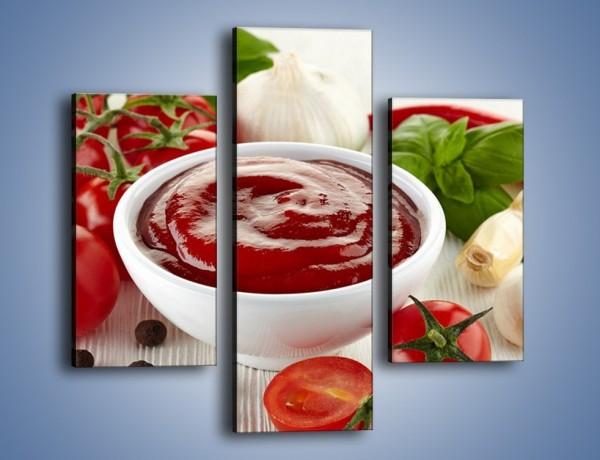 Obraz na płótnie – Pomidorowy przecier do sosów – trzyczęściowy JN636W3