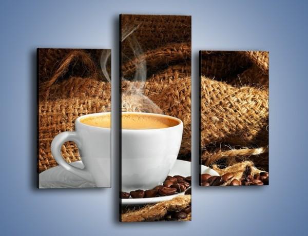Obraz na płótnie – Upity łyk kawy – trzyczęściowy JN637W3