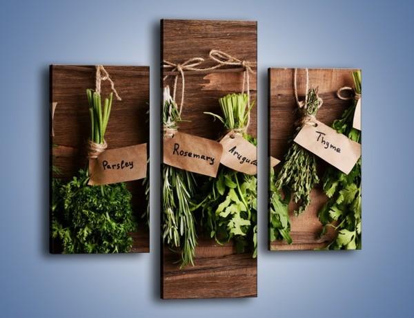 Obraz na płótnie – Świeże zioła w kuchni – trzyczęściowy JN638W3