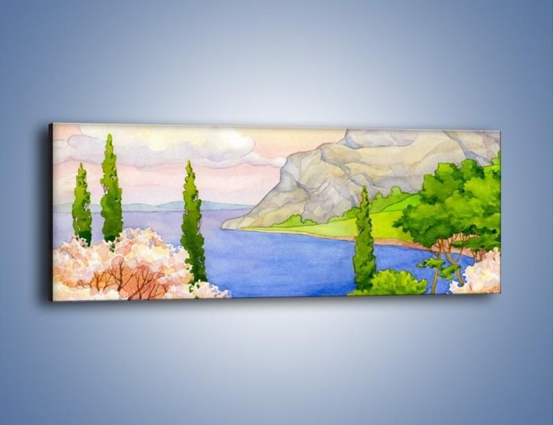 Obraz na płótnie – Krajobraz jak z pocztówki – jednoczęściowy panoramiczny GR541