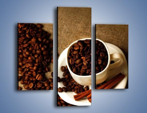 Obraz na płótnie – Kierunek w stronę kawy – trzyczęściowy JN643W3