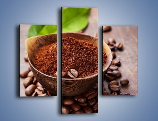 Obraz na płótnie – Odrobina zmielonej kawy – trzyczęściowy JN647W3