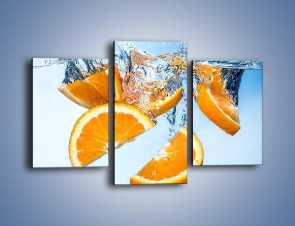 Obraz na płótnie – Pomarańcza mocno zakurzona – trzyczęściowy JN650W3