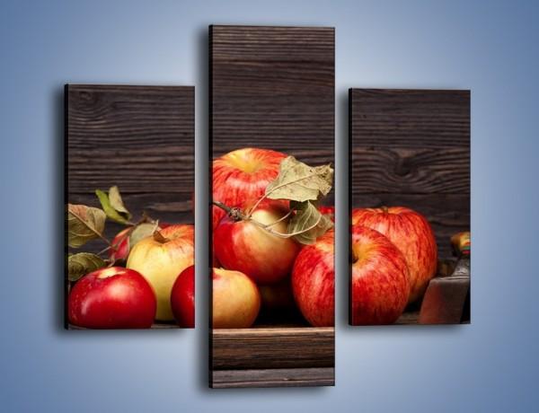 Obraz na płótnie – Dojrzałe jabłka na stole – trzyczęściowy JN653W3