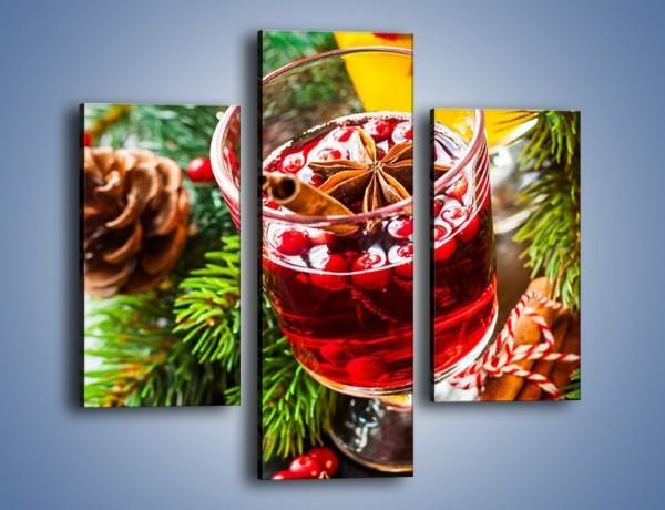 Obraz na płótnie – Świąteczne grzańce przy choince – trzyczęściowy JN661W3