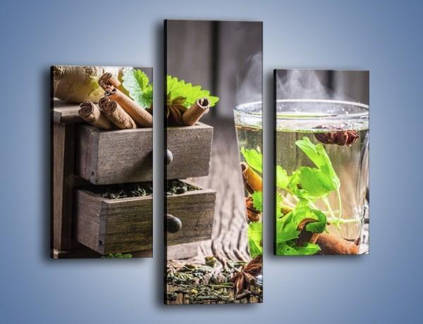 Obraz na płótnie – Herbata z duża ilością dodatków – trzyczęściowy JN667W3
