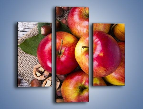 Obraz na płótnie – Jabłka z orzechami – trzyczęściowy JN669W3