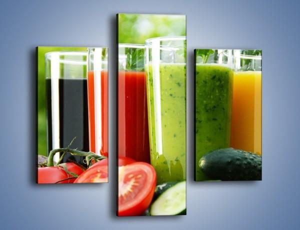 Obraz na płótnie – Pożywne warzywne smoothy – trzyczęściowy JN673W3
