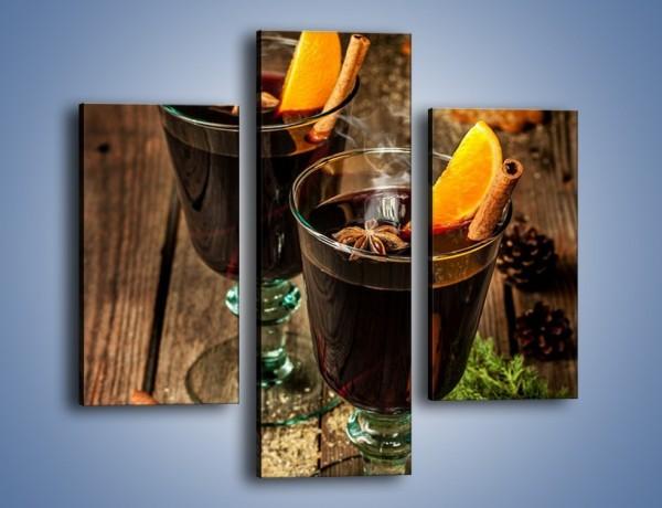 Obraz na płótnie – Grzane wino idealne na święta – trzyczęściowy JN674W3