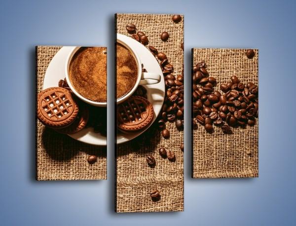 Obraz na płótnie – Kawowe słodkości na deser – trzyczęściowy JN676W3