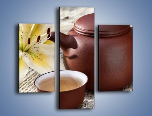 Obraz na płótnie – Waniliowa kawa – trzyczęściowy JN678W3