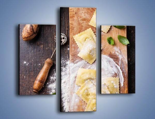 Obraz na płótnie – Pierożkowe wariacje w kuchni – trzyczęściowy JN680W3