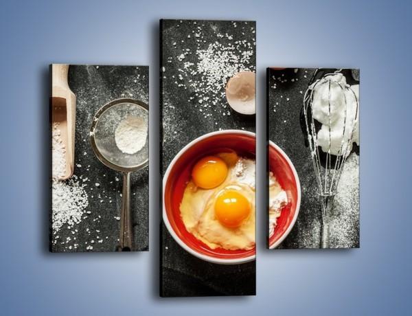 Obraz na płótnie – Jajko jako główny składnik – trzyczęściowy JN682W3