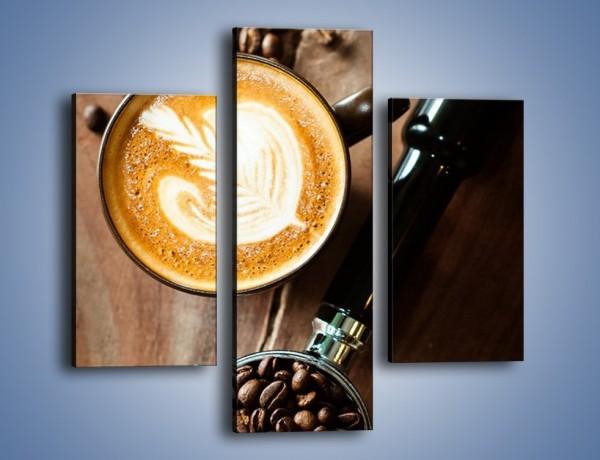 Obraz na płótnie – Kawa z idealnym wzorem – trzyczęściowy JN685W3