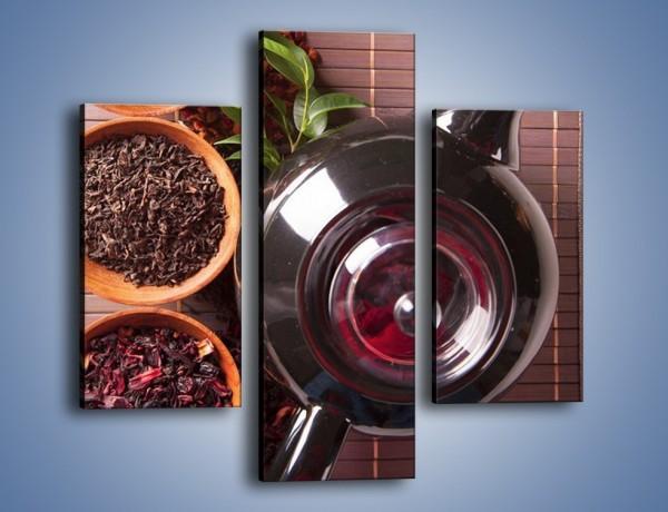 Obraz na płótnie – Sypana smakowa herbata – trzyczęściowy JN687W3