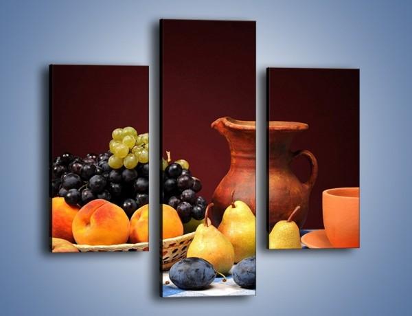 Obraz na płótnie – Stół pełen owocowych darów – trzyczęściowy JN691W3