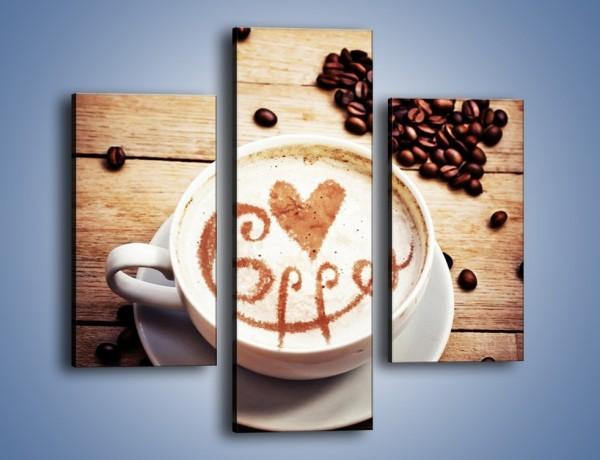 Obraz na płótnie – Kawa rządzi w kuchni – trzyczęściowy JN695W3