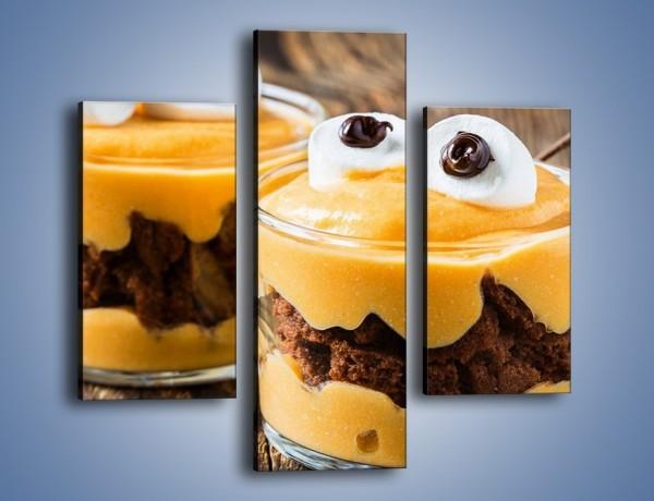 Obraz na płótnie – Słodkie potworki w szklaneczkach – trzyczęściowy JN696W3