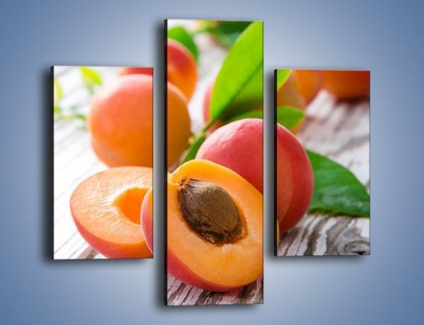Obraz na płótnie – Idealne połówki nektarynek – trzyczęściowy JN701W3