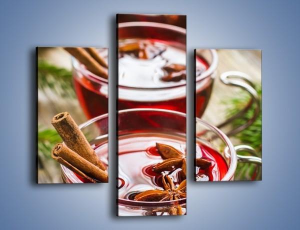 Obraz na płótnie – Grzane wino we troje – trzyczęściowy JN703W3