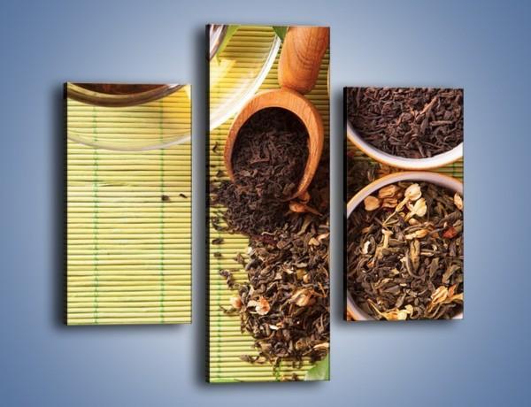 Obraz na płótnie – Sypana herbata w pojemnikach – trzyczęściowy JN708W3