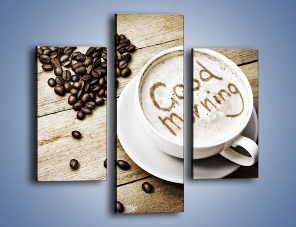 Obraz na płótnie – Z miłości do kawy – trzyczęściowy JN710W3