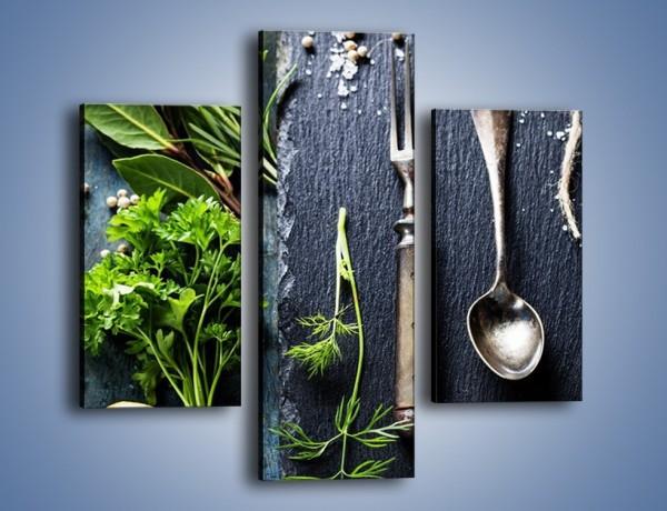 Obraz na płótnie – Najważniejsze zioła w kuchni – trzyczęściowy JN713W3