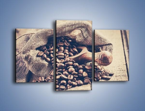 Obraz na płótnie – Odpowiednio odmierzone ziarna kawy – trzyczęściowy JN714W3