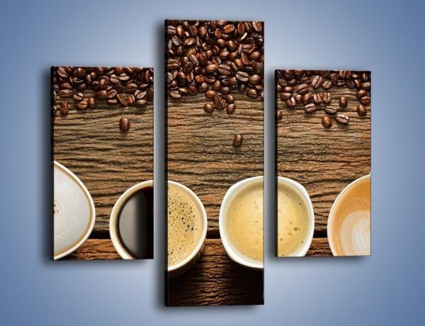 Obraz na płótnie – Kawa czarna czy biała – trzyczęściowy JN715W3