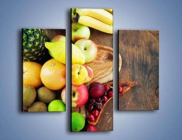 Obraz na płótnie – Owoce nie tylko egzotyczne – trzyczęściowy JN717W3