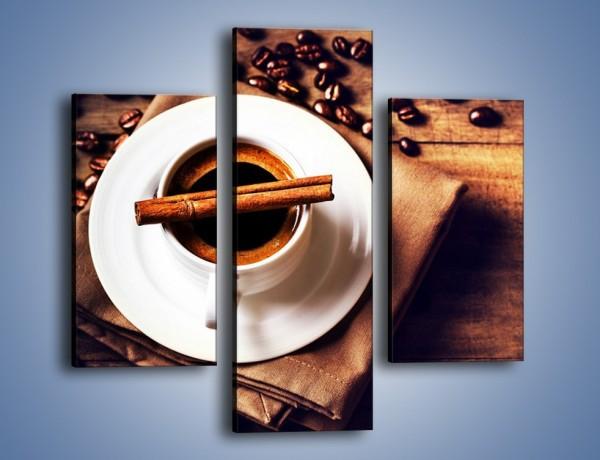 Obraz na płótnie – Trudne rozmowy przy kawie – trzyczęściowy JN719W3