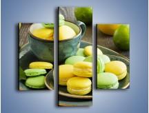 Obraz na płótnie – Cytrynowo-limonkowe ciasteczka – trzyczęściowy JN724W3